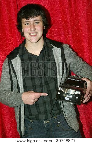 UNIVERSAL CITY - DEC. 4: Noah Dahl arrives at publicist Mike Arnoldi's birthday celebration & Britticares Toy Drive for Children's Hospital at Infusion Lounge on  Dec. 4, 2012 in Universal City, CA.