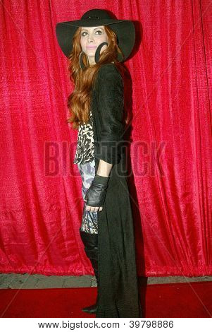 UNIVERSAL CITY - DEC. 4: Phoebe Price arrives at Mike Arnoldi's birthday celebration & Britticares Toy Drive for Children's Hospital at Infusion Lounge on  Dec. 4, 2012 in Universal City, CA.