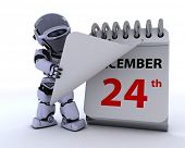 picture of 24th  - 3D render of a robot with a calender - JPG