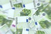 100 Euro Notes Texture Radial Blur