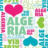 pic of algiers  - I love Algeria seamless typography background pattern in vector - JPG