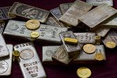 stock photo of gold mine  - Gold and Silver Bullion  - JPG
