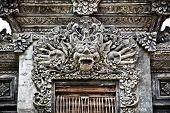 picture of dua  - Stone sculpture on entrance door of Pura Padmasana Puja Mandala - JPG