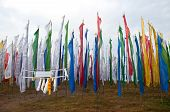 pic of darjeeling  - Colorful Mantra flag field in Darjeeling India - JPG