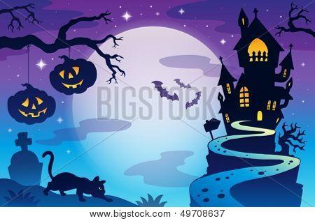 Halloween topic background 3 - eps10 vector illustration.