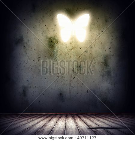 Background image with butterfly illustration