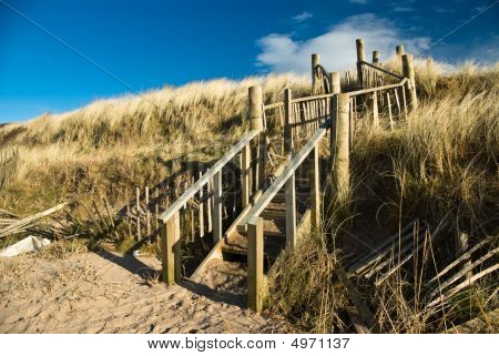Steps On Dunes On Troon Beach