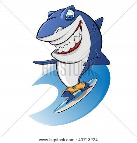 Shark surfing