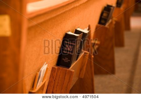 Holy Bible In A Pew