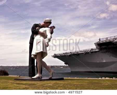 Sailor Kissing A Nurse