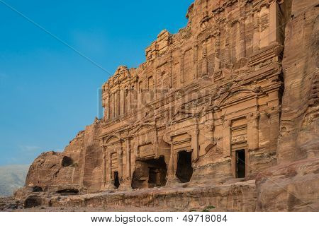 The Palace Tomb in nabatean petra jordan middle east