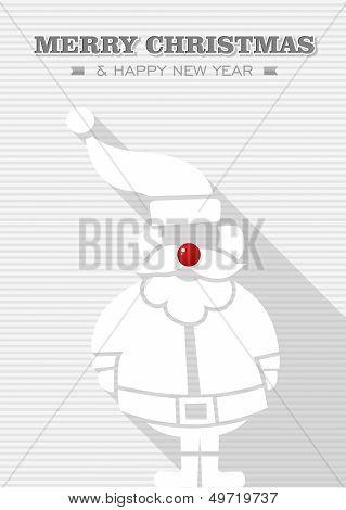 Merry Christmas Red Dot White Santa Claus.