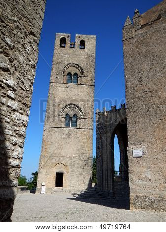 Glimpse of the Chiesa Matrice of Erice