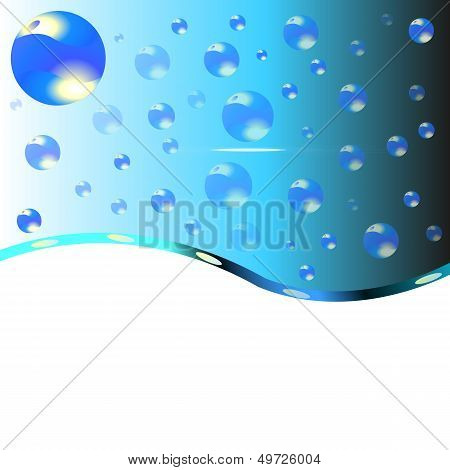 Abstract Background With Water Drops.