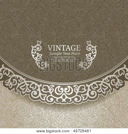 Vintage background with ornate borders
