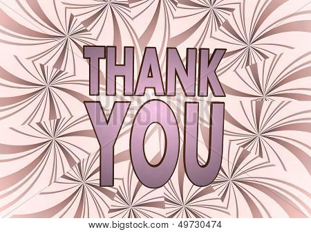 Thank You Symbol  On Vintage Backgrond