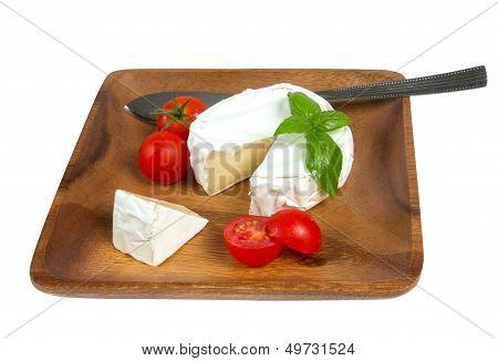 Camembert Cheese And Fresh Cherry Tomatoes