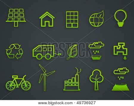 Ecology and recycle icons.