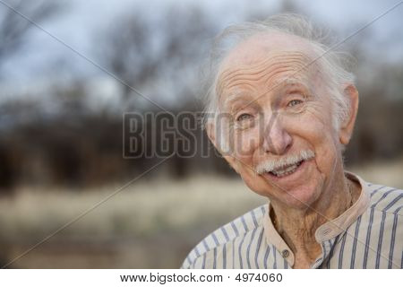 Handsome Senior Man Outdoors