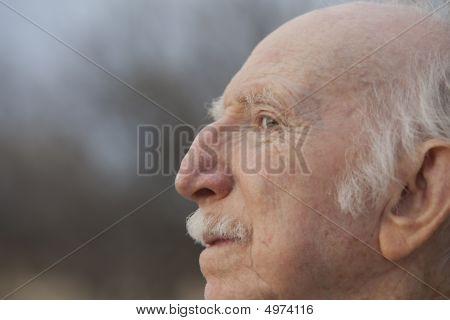 Senior Man In Profile