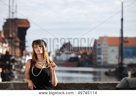 Flapper Girl Vintage Woman In 1920S Style Gdansk