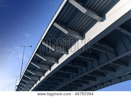 Bottom Elements Of Modern Metal Bridge