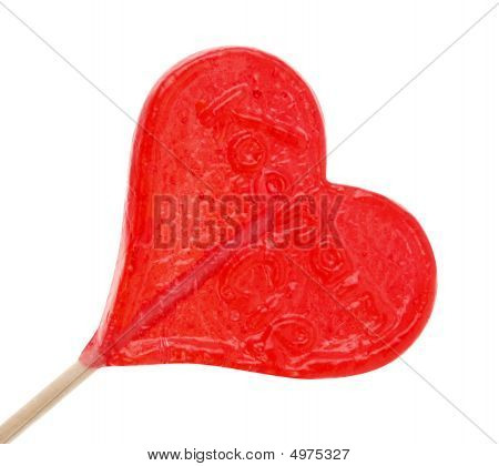 A Red Heart Shaped Candy