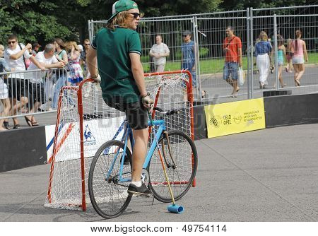 Bicycle Polo Player