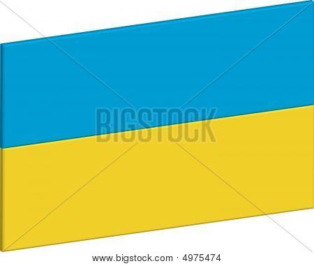 Ukraine Flagge 3D
