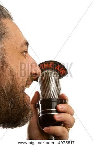 Man Shouting In Microphone