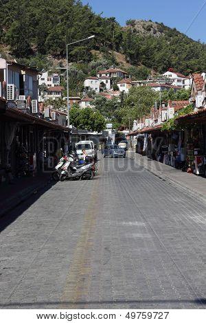 A street scene at Fethiye in Turkey