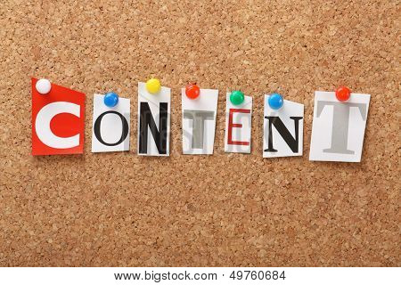 The word Content