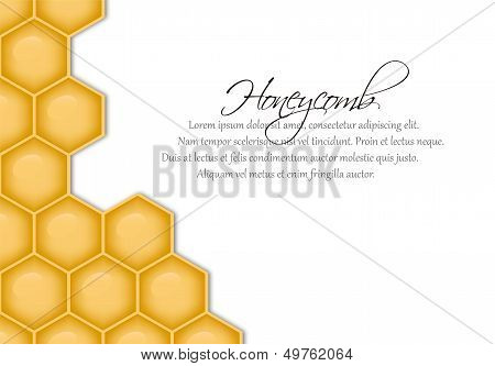 Vector Background With Structure Of Honeycomb