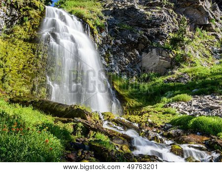 Waterfall in Crater Lake National Park