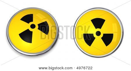 Button Atomic/nuclear Symbol