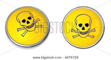 Button Poison Warning Symbol