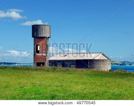 Auckland, New Zealand - Circa 2011 - Historic Water Tower On Motuihe Island