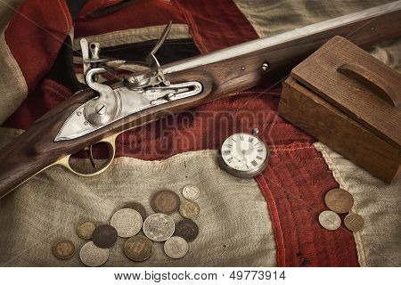 Still Life Of An Old Man's Things