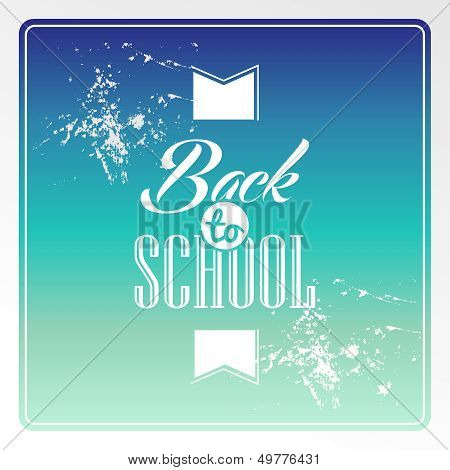 Retro Hipster Back To School Text Colorful Background.