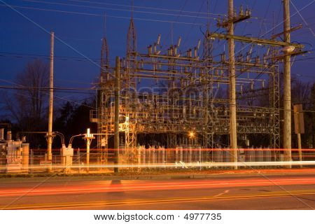 Electrical Grid Substation