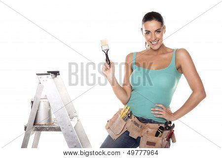 DIY woman.