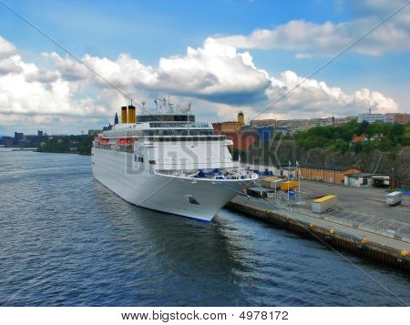 Cruise Liner In Stockholm