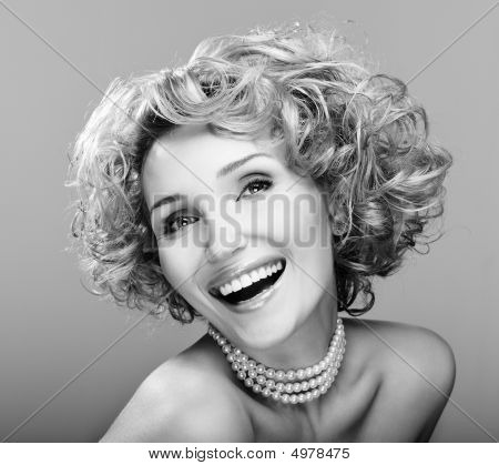 Portrait Of Beauty Laughing Young Woman