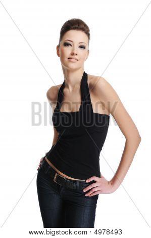 Female Fashion Model Posing