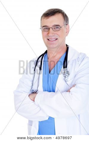 Successful Male Doctor In Eyeglasses