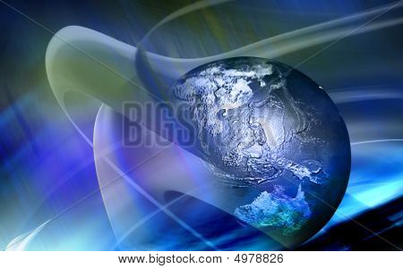 Earth With Blue Colour