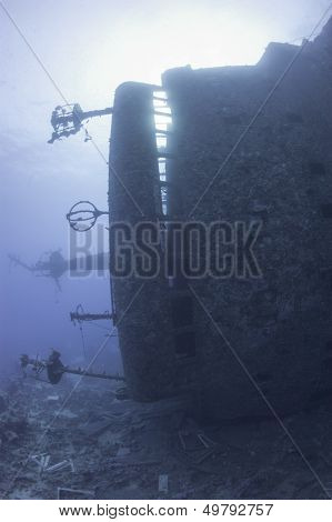Bridge Of An Underwater Shipwreck