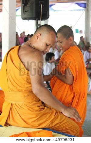 Ordained Buddhist Monk