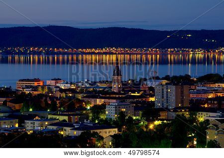 Jonkoping At Night. Sweden