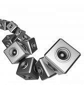 3D Sound System Party Abstract Dj Deejay Set